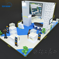 Detian offer exhibition tradeshow booth wooden exhibition stand new trade show displays