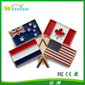 Winho custom nation flag pin badge