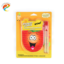 High quality scented child note book with scented pens stationery set