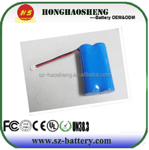 Capacity customized long cycle life 1800mAh 18650 7.4v li-ion battery pack with blue PCM for power tools etc
