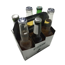 Customized pick 6 wine bottle carrier for super market on sale