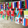 DMT AD wholesale custom printing bali flags with string for sale from different countries