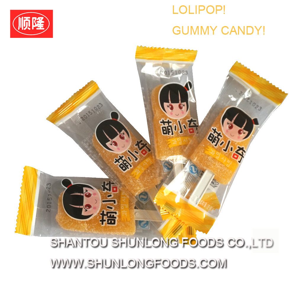 sweet mango jelly candy,gummy candy lolipop