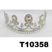 wholesale beauty queen big pearl diamond pageant crowns