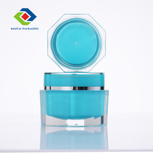 50g jars double wal colour costomize clear thick acrylic containers plastic packaging octagon shape