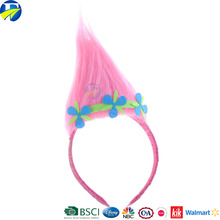 2017 FJ brand promotion trolls pink headband cut hair accessories gift set new style for kids gift
