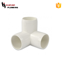 JH0347 plastic pvc 3 way elbow pipe connector 1 1/4 inch pvc three way elbow pvc drainage fittings y- tee plug elbow