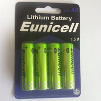 AA lithium battery 1.5v FR6 AA lithium battery 2900mAh with 4 pack