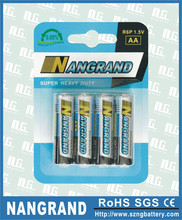 R6p zinc carbon aa size battery
