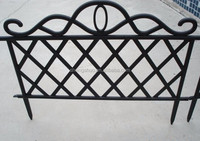 Plastic garden lattice fence in black color