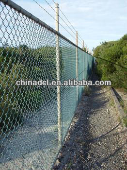 galvanized chain link fence / pvc coated chain link fence /stainless steel chain link fence (factory)