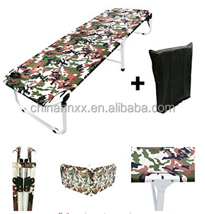 MagshionArmy/Camo Camping Folding Military Cot Outdoor