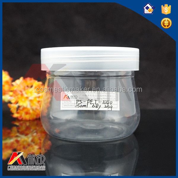 New product plastic candy jar and plastic food containers