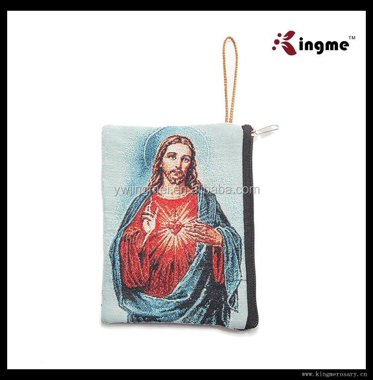 Kingme religious brocade bag with Jesus for Christian