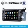 toyota car price support canbus with Gps TV 3G USB TMC Canbus Mp3 Aux-in Rca-out android4.4.4 system