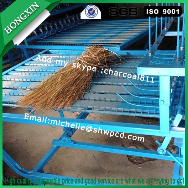 Grass carpets weave machine, reed mat knitting machine