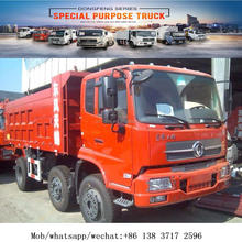 Dongfeng dump truck side tipper 6x2 CL3163 payload 8Mt 82kw/130Hp diesel truck 3 seats with sleeper