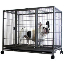 Heavy Duty Metal Square Tube Dog Wire Cages with Wheels