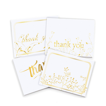 Custom 4 x 6 Inches Paper Gift Card Printable English Thank You Cards For Wedding