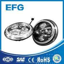 China Supplier DOT SAE ECE Certified 7 Inch Round LED H4 Harley Headlights With Multi Colors DRL
