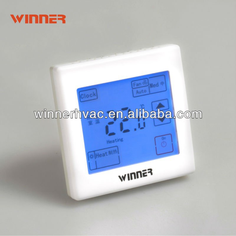Touch screen wifi thermostat for HVAC system