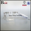 200g clear hermetic plastic jar with metal clip
