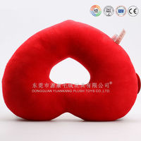Soft pillow with ear hole