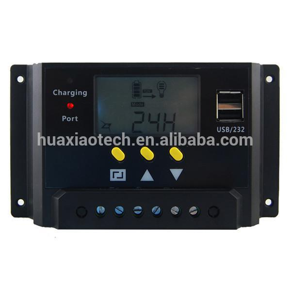 PWM solar charge controller circuit with LCD display for solar energy