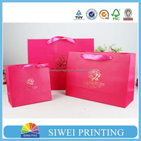 2015 Guangzhou Manufacturer Customized girls navy blue paper bag design lovely with pvc win