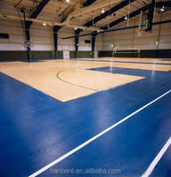 Soft basketball covering for sports plastic flooring