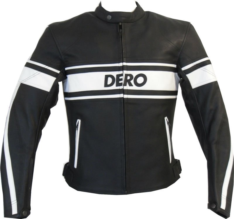 MOTORBIKE LEATHER JACKET DERO RETRO