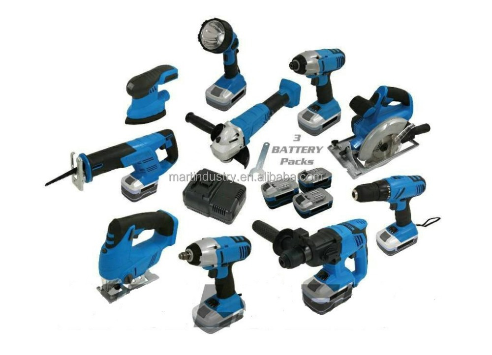 MAKUTE 18V Li-ion 10 Piece Cordless Power Tools Kit with Charger THE 10PCS ULTIMATE CORDLESS KIT