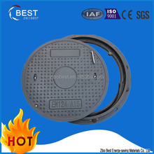 EN124 frp plastic cable protection smc manhole covers with frame from China