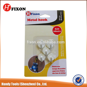 2015 wholesale FIXON high quality white color metal hooks