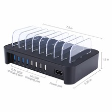 Portable Multi Mobile Phone 8 Port USB Charging Station for Sale