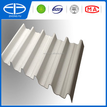 White color synthetic resin trapezoid roof tile / Plastic corrugated trapezoid roof tile / UPVC roofing sheet