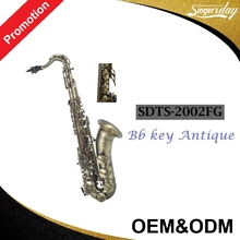 33 Years Big Manufacturer Singer's day Chinese Selmer style Model SDTS-2002FG antique tenor saxophone