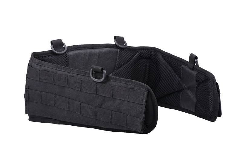 52 Inch Padded Airflow Battle Belt Black MOLLE Tactical Belt