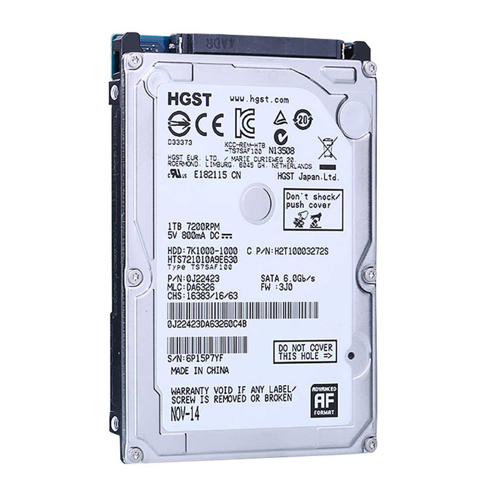 "HGST 2.5"" HDD 1tb internal laptop hard drive SATA3 7200RPM for notebook"