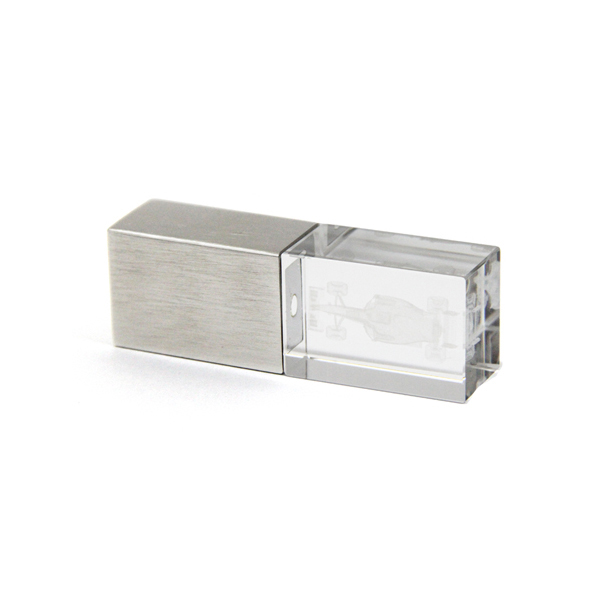 Electronic goods Crystal usb drive laser engrave company logo