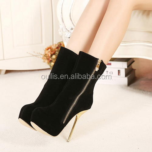Blown and black Boots hight heels summer style PZ3201