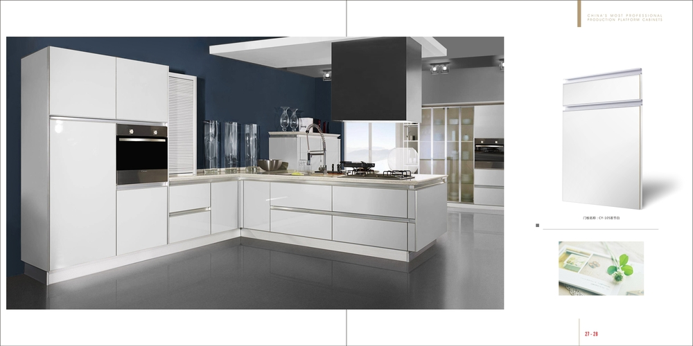 High glossy open style cabients ,modern kitchen cabients