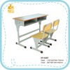 Cheap adjustable wooden used school student desk and chair