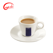 Noraml ceramic coffee cup saucer with customized decal