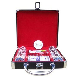 Special Purpose Bags & Cases 100pcs poker chip set in aluminum ABS case poker chip set