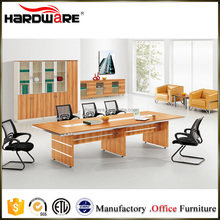 rectangular long conference executive wooden office desk with chairs