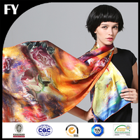 Wholesale China digital printed silk borong shawl