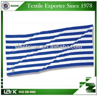 high quality yarn dyed blue and white stripped bath towel 100%cotton WHOLESALE