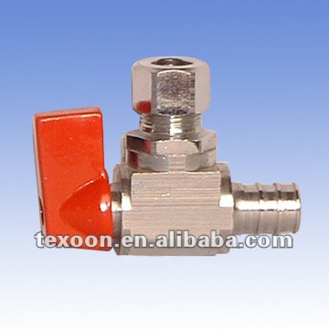 MINI copper turn angle valves with pex*compression connection