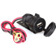 Smart Phone 2.1A / 1A Double USB 12V to 5V Waterproof Motorcycle Vehicle Charger